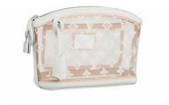 LV Monogram Transparent Lockit Clutch