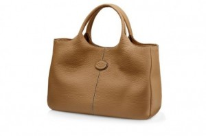 shopper-piccola-tods-in-pelle-caramello