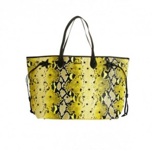 shopping-bag-gialla-stampa-rettile